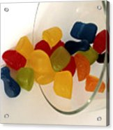 Fruit Gummi Candy Acrylic Print by Cheryl Young