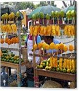 Fruit Stand Antigua  Guatemala Acrylic Print by Kurt Van Wagner