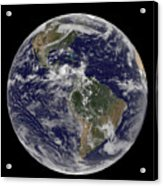 Full Earth Showing North America Acrylic Print by Stocktrek Images