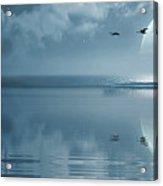 Fullmoon Over The Ocean Acrylic Print by Jaroslaw Grudzinski