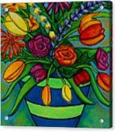 Funky Town Bouquet Acrylic Print by Lisa  Lorenz