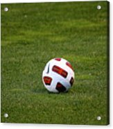 Futbol Acrylic Print by Laddie Halupa