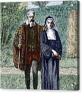 Galileo And His Daughter Maria Celeste Acrylic Print by Sheila Terry