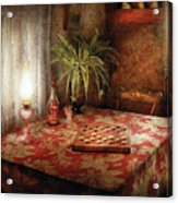 Game - Checkers - Checkers Anyone Acrylic Print by Mike Savad