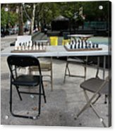 Game Of Chess Anyone Acrylic Print by Terry Wallace
