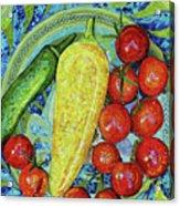 Garden Harvest Acrylic Print by Shawna Rowe