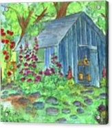Garden Potting Shed Acrylic Print by Cathie Richardson