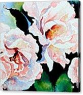 Garden Roses Acrylic Print by Hanne Lore Koehler