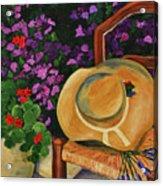 Garden Scene Acrylic Print by Elise Palmigiani