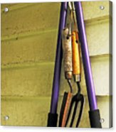 Gardening Tools Acrylic Print by Kenneth William Caleno