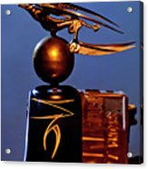 Gargoyle Hood Ornament 3 Acrylic Print by Jill Reger
