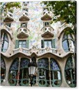 Gaudi Architecture Acrylic Print by Laura Kayon