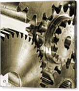 Gears And Cogwheels In Antique Look Acrylic Print by Christian Lagereek
