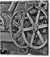 Gears Acrylic Print by William Wetmore
