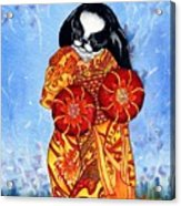 Geisha Chin Acrylic Print by Kathleen Sepulveda