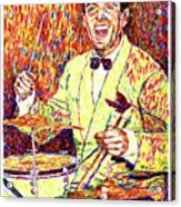 Gene Krupa The Drummer Acrylic Print by David Lloyd Glover