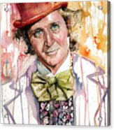 Gene Wilder Acrylic Print by Michael  Pattison