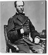 General William Sherman Acrylic Print by War Is Hell Store