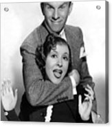 George Burns And Gracie Allen, 1936 Acrylic Print by Everett