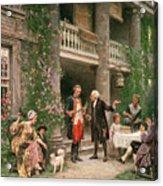 George Washington At Bartrams Garden Acrylic Print by Jean Leon Jerome Ferris