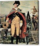 George Washington At Dorchester Heights Acrylic Print by Emanuel Gottlieb Leutze