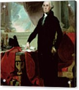 George Washington Acrylic Print by Gilbert Stuart
