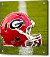Georgia Bulldogs Football Helmet Acrylic Print by Replay Photos