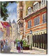 Germany Baden-baden Lange Str Acrylic Print by Yuriy  Shevchuk