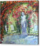 Germany Baden-baden Rosengarten 02 Acrylic Print by Yuriy  Shevchuk