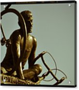 Ghisallo Statue Detail 2 Acrylic Print by Chuck Parsons