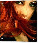 Girl Portrait 08 Acrylic Print by James Shepherd