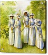 Girls In The Band Acrylic Print by Jane Whiting Chrzanoska