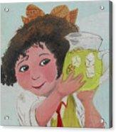 Girls With Lemonade Acrylic Print by M Valeriano
