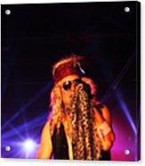 Glam Rock Lead Singer Acrylic Print by James Hammen