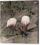Gleaners Acrylic Print by Arne Hansen