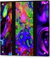 Glow And Flow 'triptych' Acrylic Print by Terril Heilman