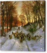 Glowed With Tints Of Evening Hours Acrylic Print by Joseph Farquharson