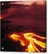 Glowing Lava Flow Acrylic Print by Peter French - Printscapes