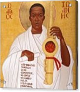 God Breathes Through The Holy Horn Of St. John Coltrane. Acrylic Print by Mark Dukes