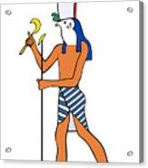 God Of Ancient Egypt - Horus Acrylic Print by Michal Boubin