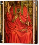God The Father Acrylic Print by Hubert and Jan Van Eyck
