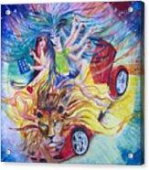Goddess Of 21st C Acrylic Print by Sarabjit Singh