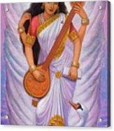 Goddess Saraswati Acrylic Print by Sue Halstenberg