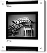 Going Going Gone Acrylic Print by Kenneth Krolikowski