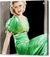 Gold Diggers Of 1933, Ginger Rogers Acrylic Print by Everett