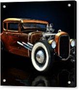 Golden Brown Hot Rod Acrylic Print by Rat Rod Studios