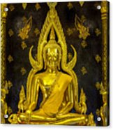 Golden Buddha  Acrylic Print by Anek Suwannaphoom