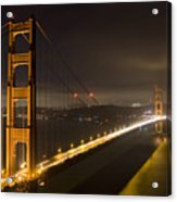 Golden Gate At Night Acrylic Print by Mike Irwin