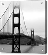 Golden Gate Bridge Acrylic Print by Federica Gentile