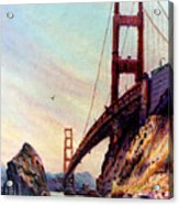 Golden Gate Bridge Looking South Acrylic Print by Donald Maier